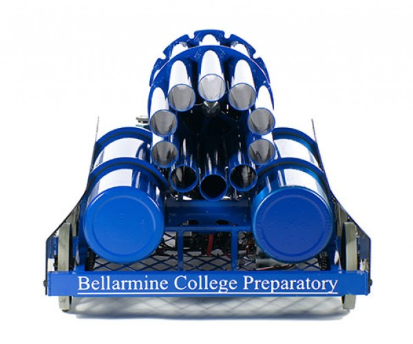 bellarmine college team 254 t-shirt cannon robot 3