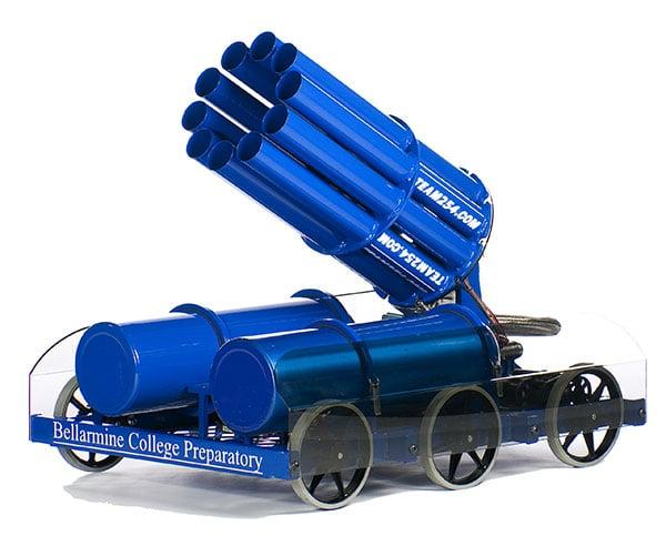 bellarmine college team 254 t-shirt cannon robot