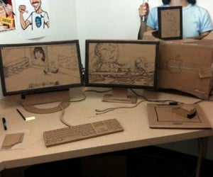 F'Ing Epic Cardboard Cubicle Prank Proves These Guys Don't have Enough to Do