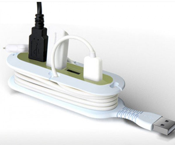 Quirky Contort USB Hub Manages Its Own Cables