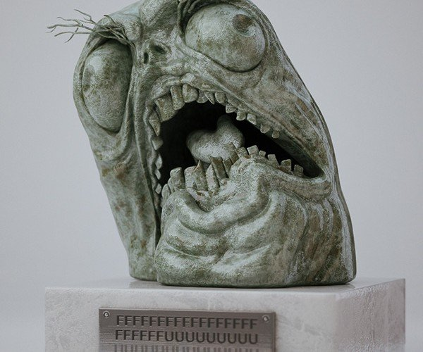 Fffuuuu- Statue: Meme Monument