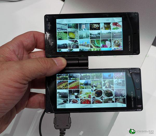fujitsu dual touchscreen concept phone