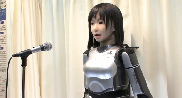 hrp-4c singing robot