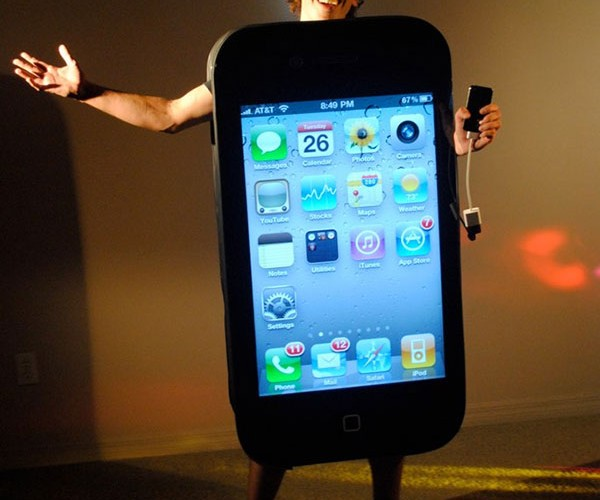 IPhone 4 Costume: This Changes Halloween. Again. Not Really.
