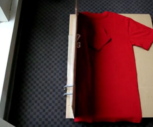 Geek Builds LEGO Mindstorms T-Shirt Folding Robot