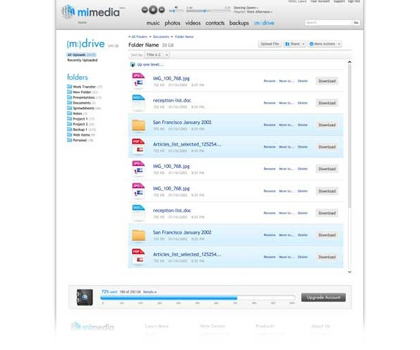 mimedia online backup 6