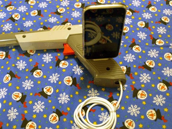 nes light gun iphone dock