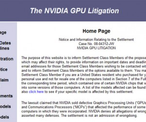 Nvidia Settles Faulty Gpu Class Action, Admits No Wrong