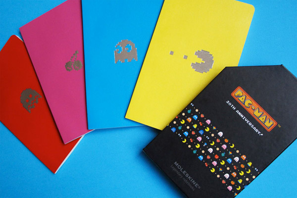 pac man moleskine notebooks