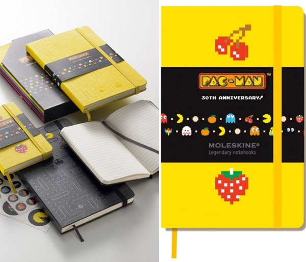 pac man moleskine notebooks 2