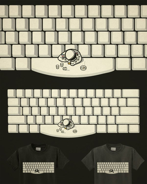 spacebar_space_bar_t-shirt