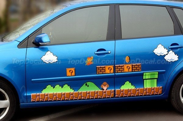 super mario car decals it 39 s a me monte carlo technabob. Black Bedroom Furniture Sets. Home Design Ideas
