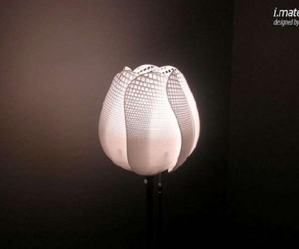 Tulipk Lamp Printed in 3d, Designed in Microsoft Excel