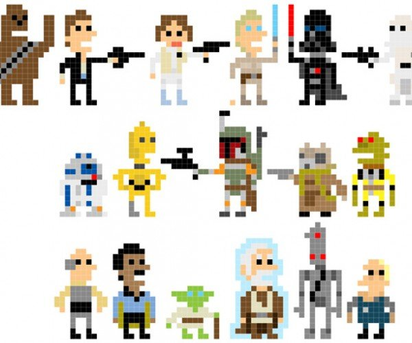 Andy Rash'S Pixelated Star Wars Characters: a Long Time Ago in a Galaxy 8-Bits Away