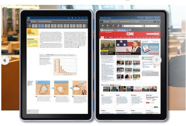 kno tablet ebook reader ipad dual screen