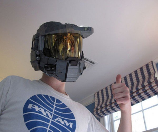 Wearable LEGO Master Chief Helmet: Easy Headshot