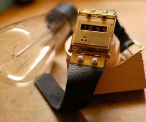 Handmade LED Watch: It'S Digital, but Still Steampunk-Y