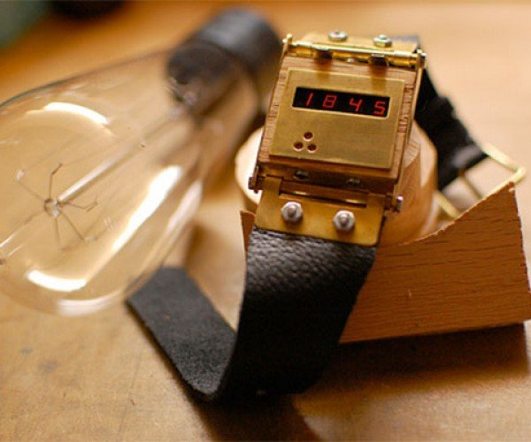 Handmade LED Watch: It'S Digital, but Still Steampunk-Y