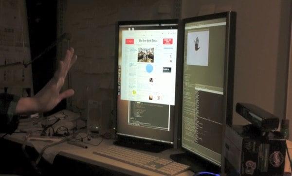 microsoft kinect video games windows 7 hack interface
