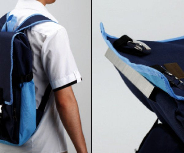 Bag Hug Chair Doubles as Both Chair and Backpack