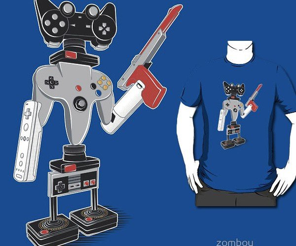 Controlbot4000 T-Shirt: Atari Legs and Nintendo Arms