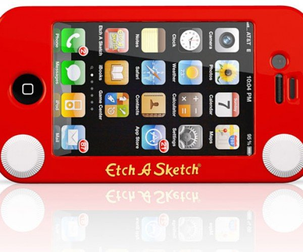 Etch a Sketch iPhone Case Still Won'T Help You Draw Curves