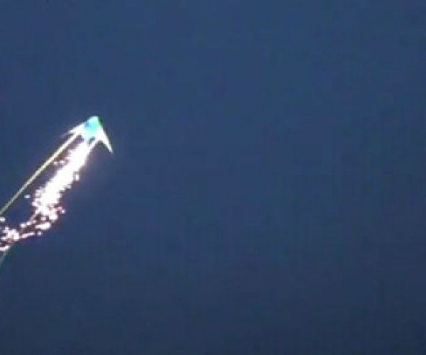 Geeks Tie Fireworks to Kites, Not as Explosive as You Might Think