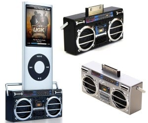 IPod Boom Dock Turns Your iPod Into World'S Smallest Ghetto Blaster