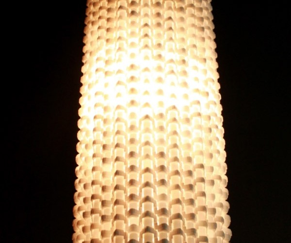 Lamp Made Out of Keyboard Parts: Qwertylight