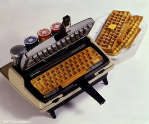 Typewriter Waffle Maker Types 1 W(Affle) Per Minute