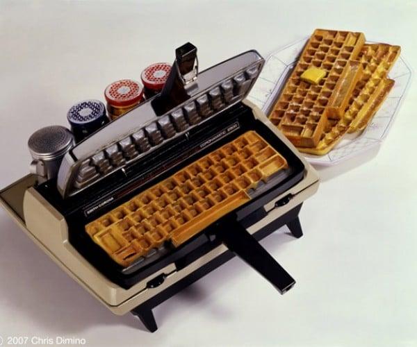 Typewriter Waffle Maker Types 1 W(Affle) Per Minute