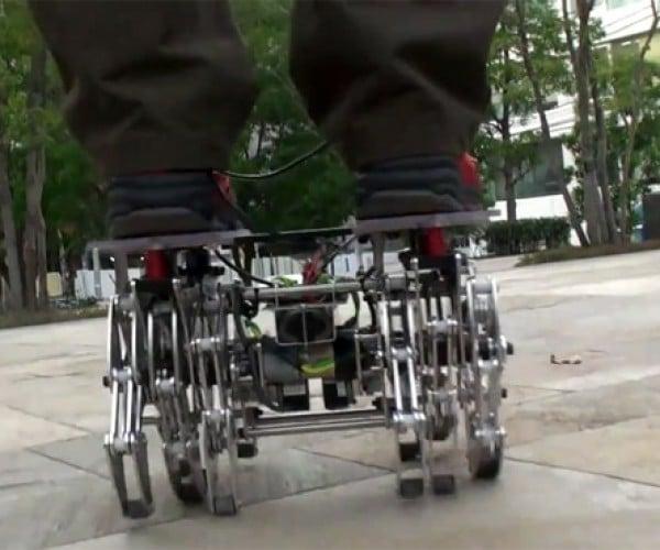 Landcrawler Robot Wobbles but it Won't Fall Down