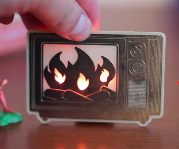 LED Yule Log Definitely Won'T Burn Down the House
