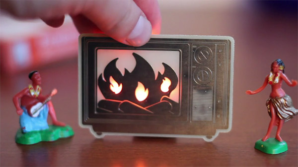 led yule log