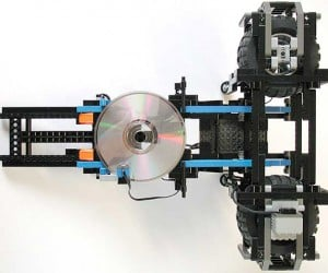 LEGO Disc Thrower: Put Those Old Aol Discs to Good Use