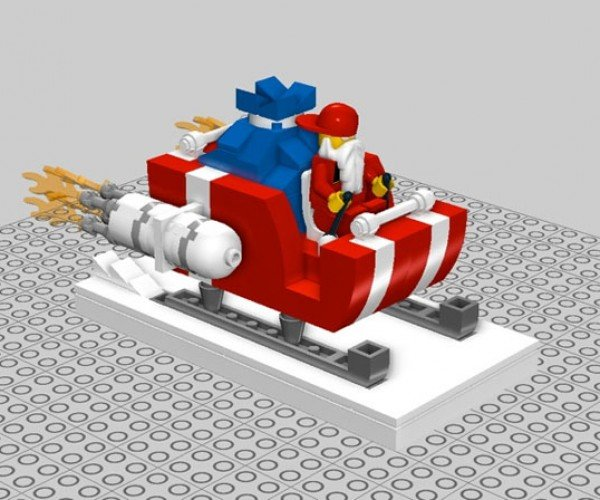 LEGO Santa Sleigh Kit Makes Your Yuletide Geek