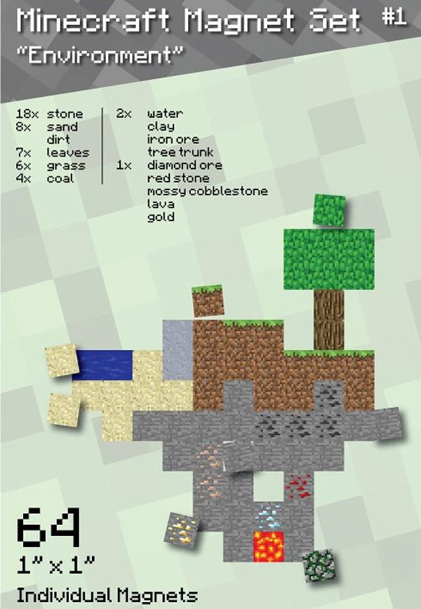 minecraft_magnet_set