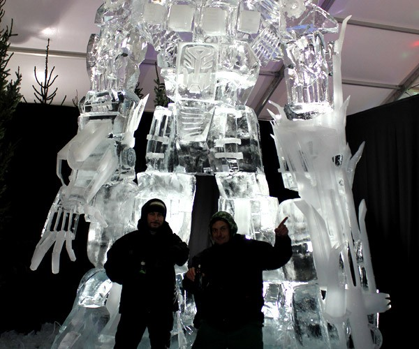Optimus Prime Ice Sculpture: Conquered by Megatron'S Evil Bic Lighter