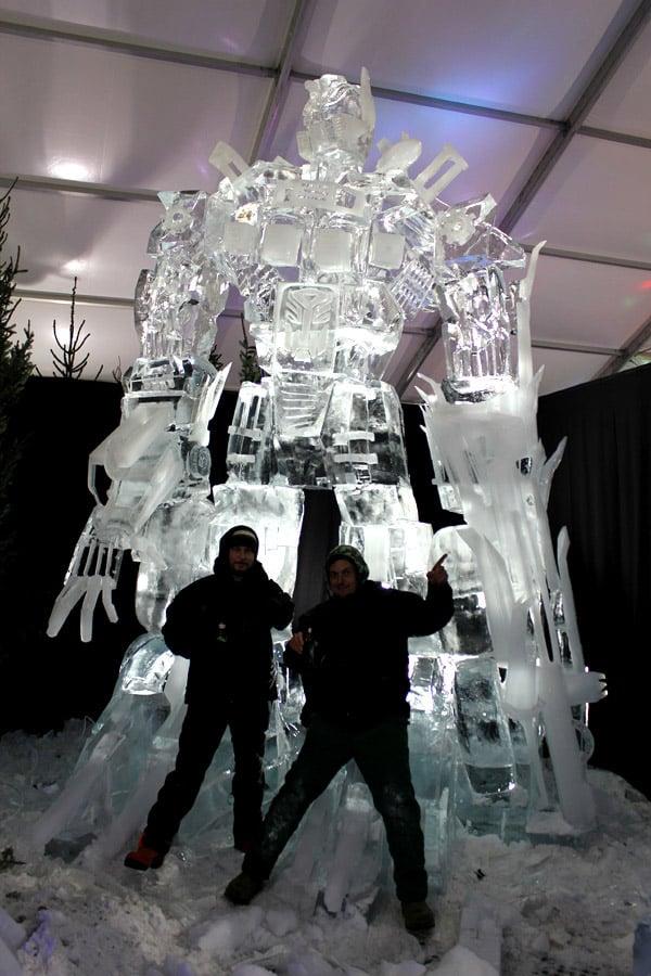 optimus_prime_ice_sculpture