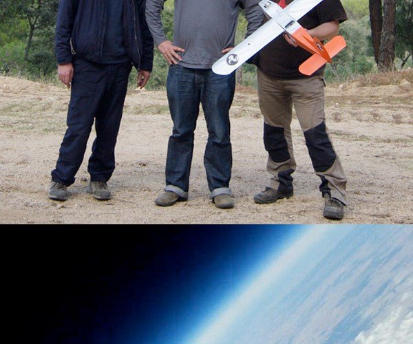Geeks Launch Paper Airplane From 90,000 Feet