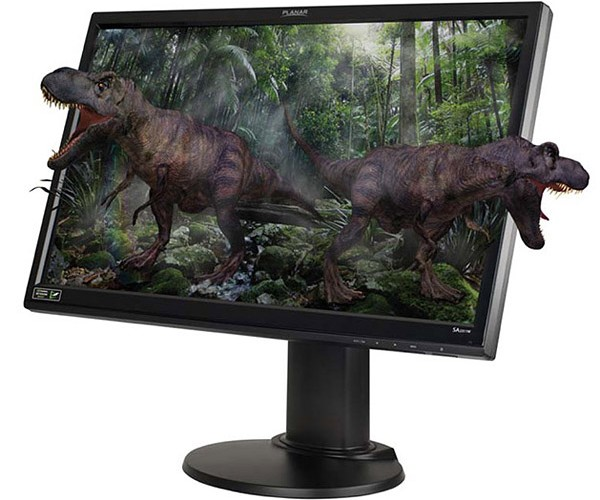 Planar Sa2311w LCD Monitor Brings 3d Dinosaurs to Your Desktop