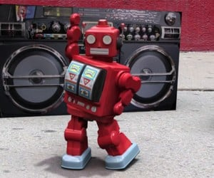 Robot + Boombox + Dance Moves + Styx = Awesome