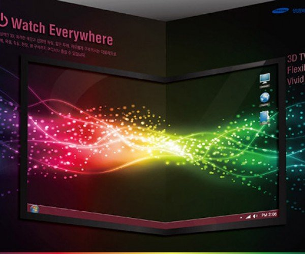 Samsung Shows Flexible OLED 3d Tv Concept