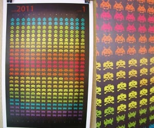 Space Invaders Calendar: I Want to Shoo-Oo-Oo-Oot… the Whole Day Down