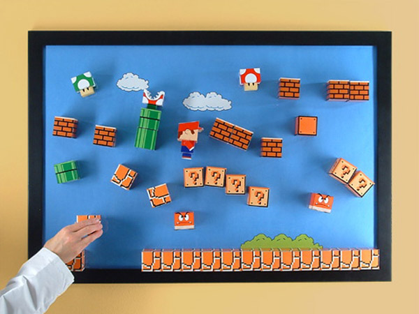 3d Super Mario Bros Diorama No Glasses Required Technabob