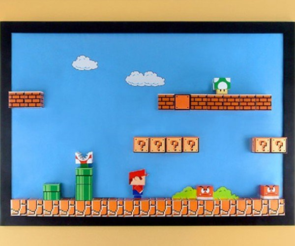 3d Super Mario Bros. Diorama: No Glasses Required