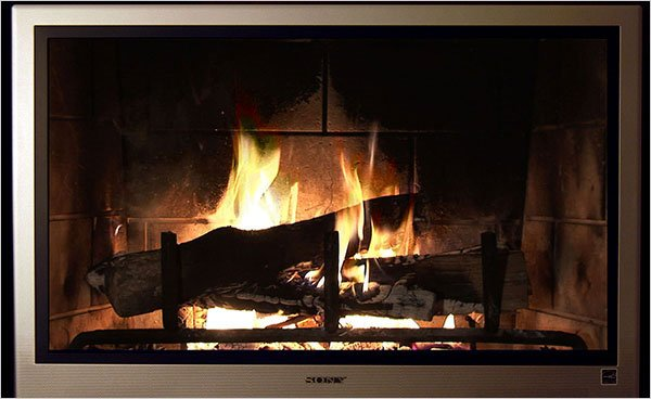 yule log tv comcast 3d