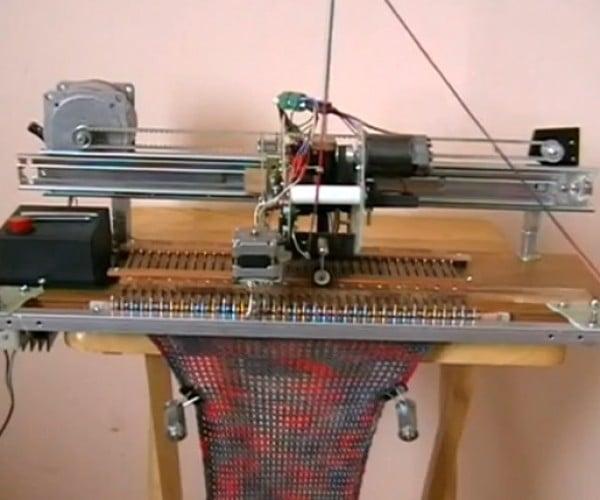 DIY Robotic Knitting Machine: Sew What?