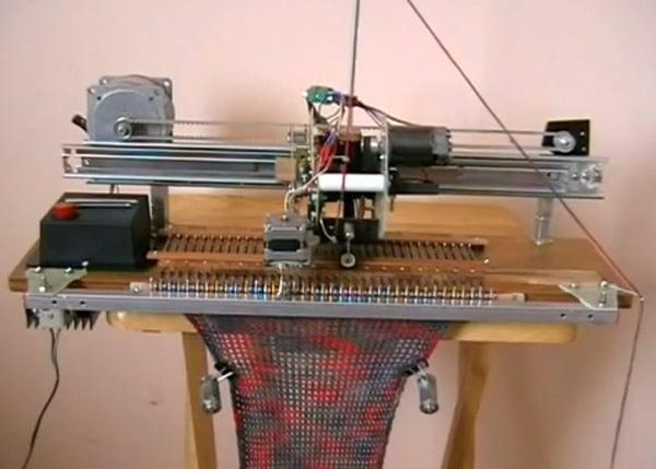 Knitting Machine Diy : Diy robotic knitting machine sew what