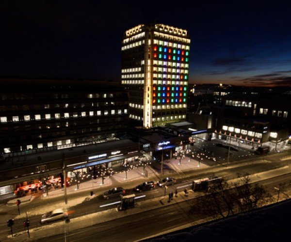 TRON Legacy Light Show Hits Oslo